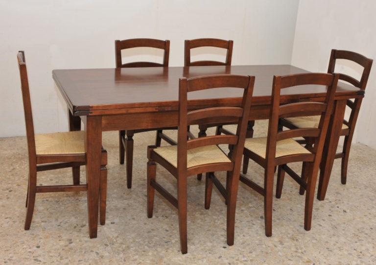 Tavolo e sedie collezione Arte Povera potì arredamenti novoli